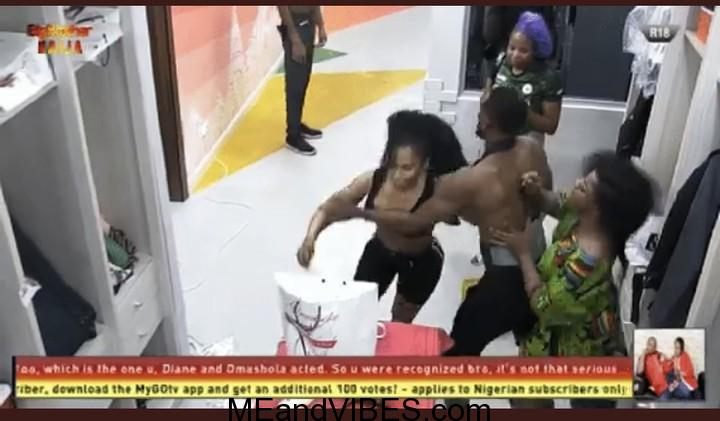 BBNaija: Mercy And Tacha Fight, Gets Physical (Watch Full Videos)