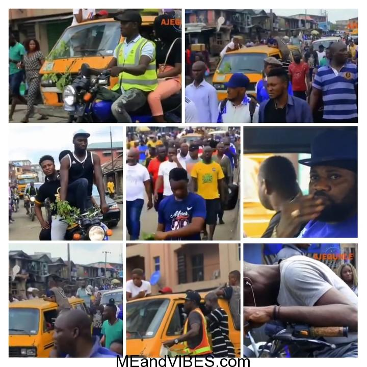 Massive turnout in Ajegunle as body of late mad melon is escorted to the mortuary